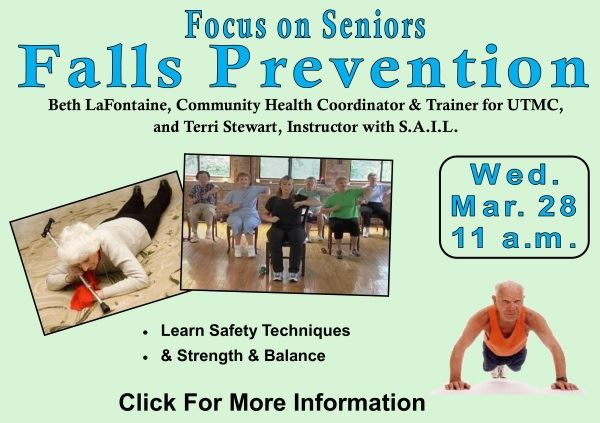 Falls Prevention - Wed  March 28 2018 (Feature)