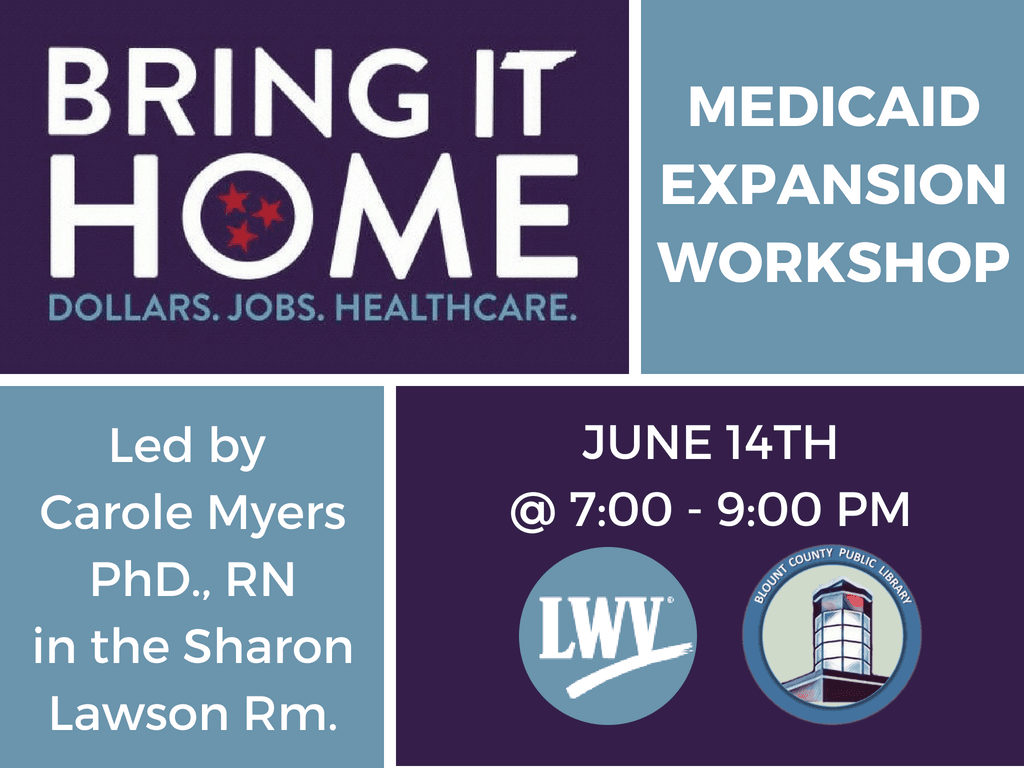 Medicaid Expansion Workshop June 14 2018 (Signage)