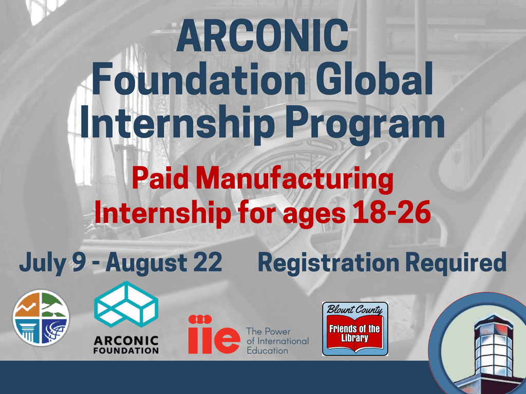 ARCONIC Internship July 9-Aug 22 2018 (Signage)