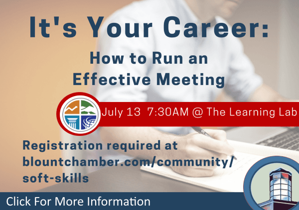 Its Your Career How to Run an Effective Meeting July 13 2018 (Feature)