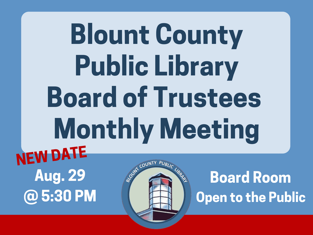 BCPL Board Monthly Meetings August 29 2018 (Signage)