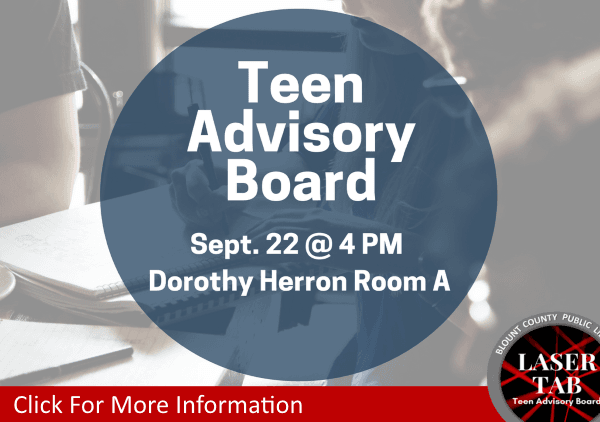 Teen Advisory Board Laser TAB  September 22 2018 (Feature)