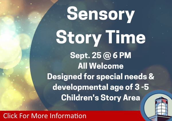 Sensory Story Time September 25 2018 (Feature)
