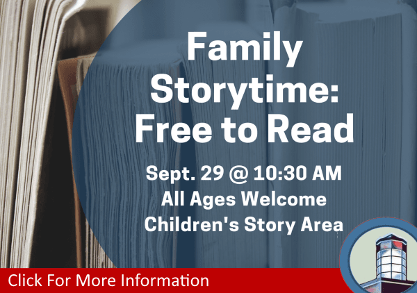 Family Storytime Free to Read September 29 2018 (Feature)