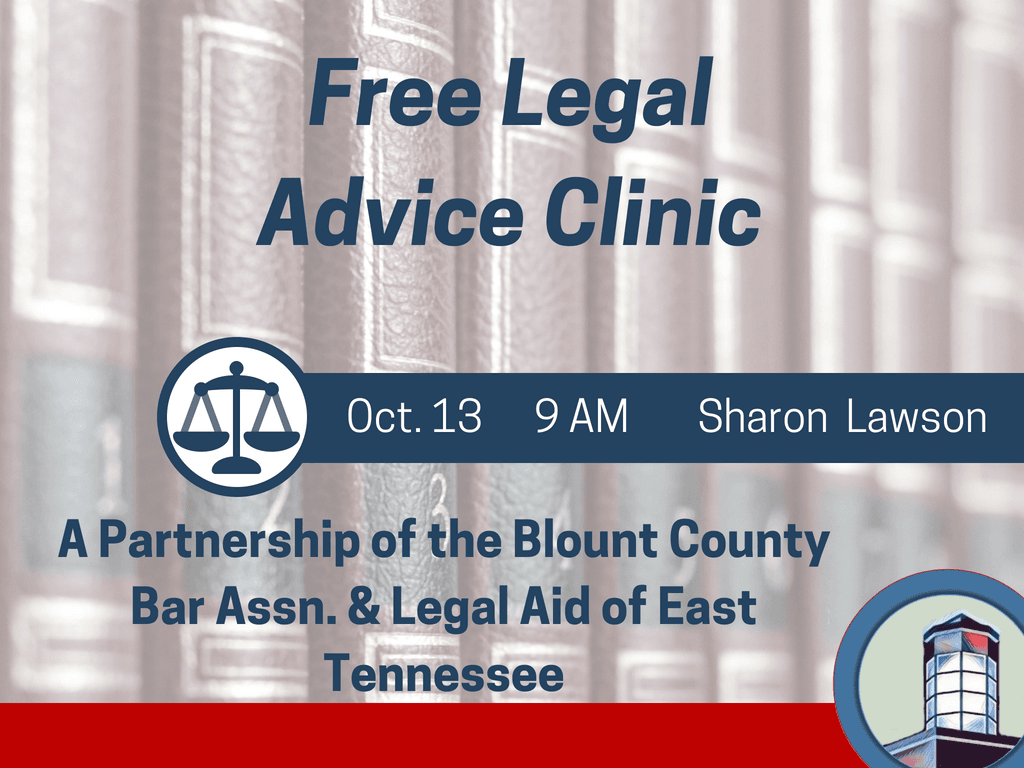 Free Legal Advice October 13 2018 (Signage)