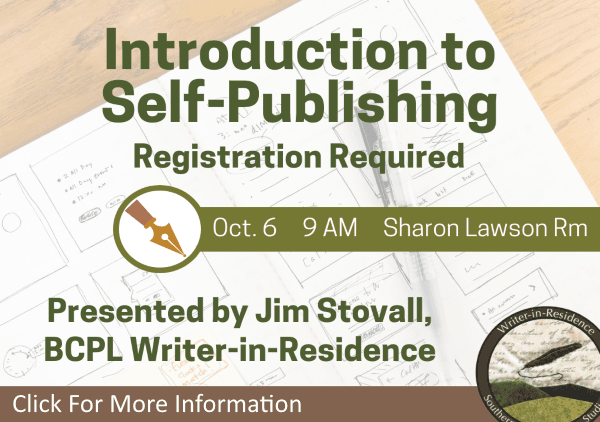 Introduction to Self Publishing October 6 2018 (Feature)