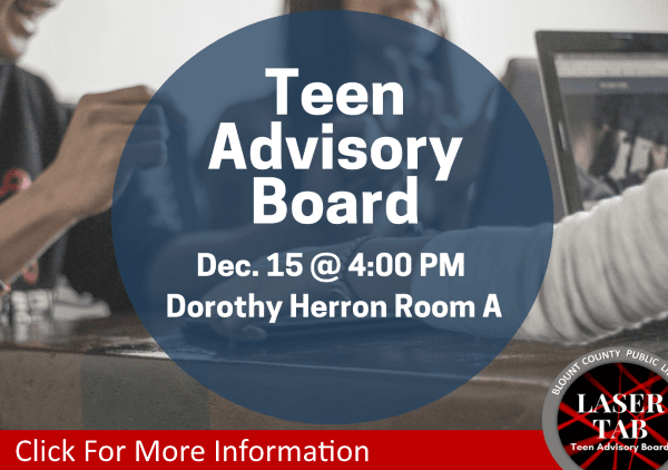 Teen Advisory Board LaserTAB  Dec 15 2018 (Feature)