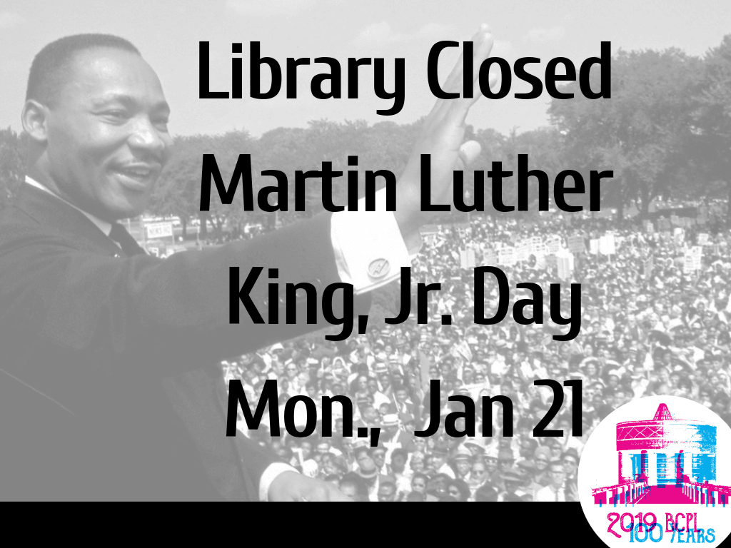 MLK Day Holiday Jan 2019 (Signage)