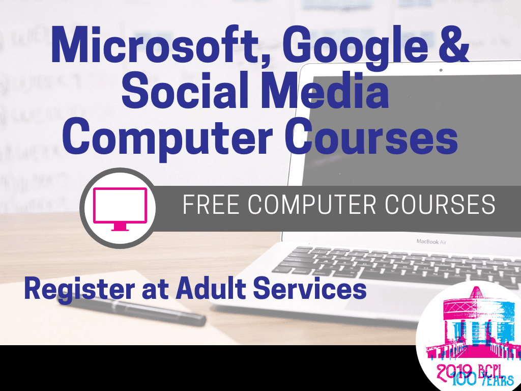 Computer Courses 2019 (Signage)
