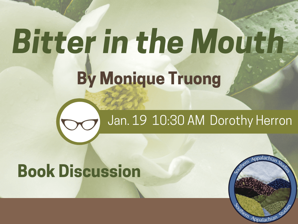 Appalachian Reads Bitter in the Mouth Jan 19 2019 (Signage)