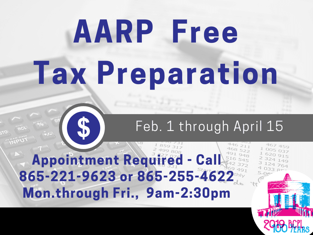 AARP Tax Program 2019 (Signage)