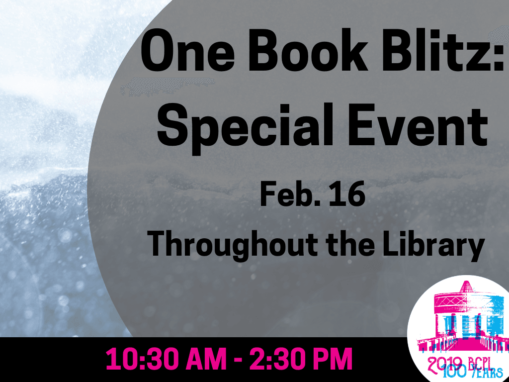 One Book Blitz Feb 16 2019 (Signage)