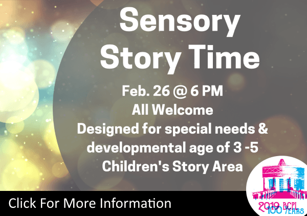 Sensory Story Time Feb 26 2019 (Feature)