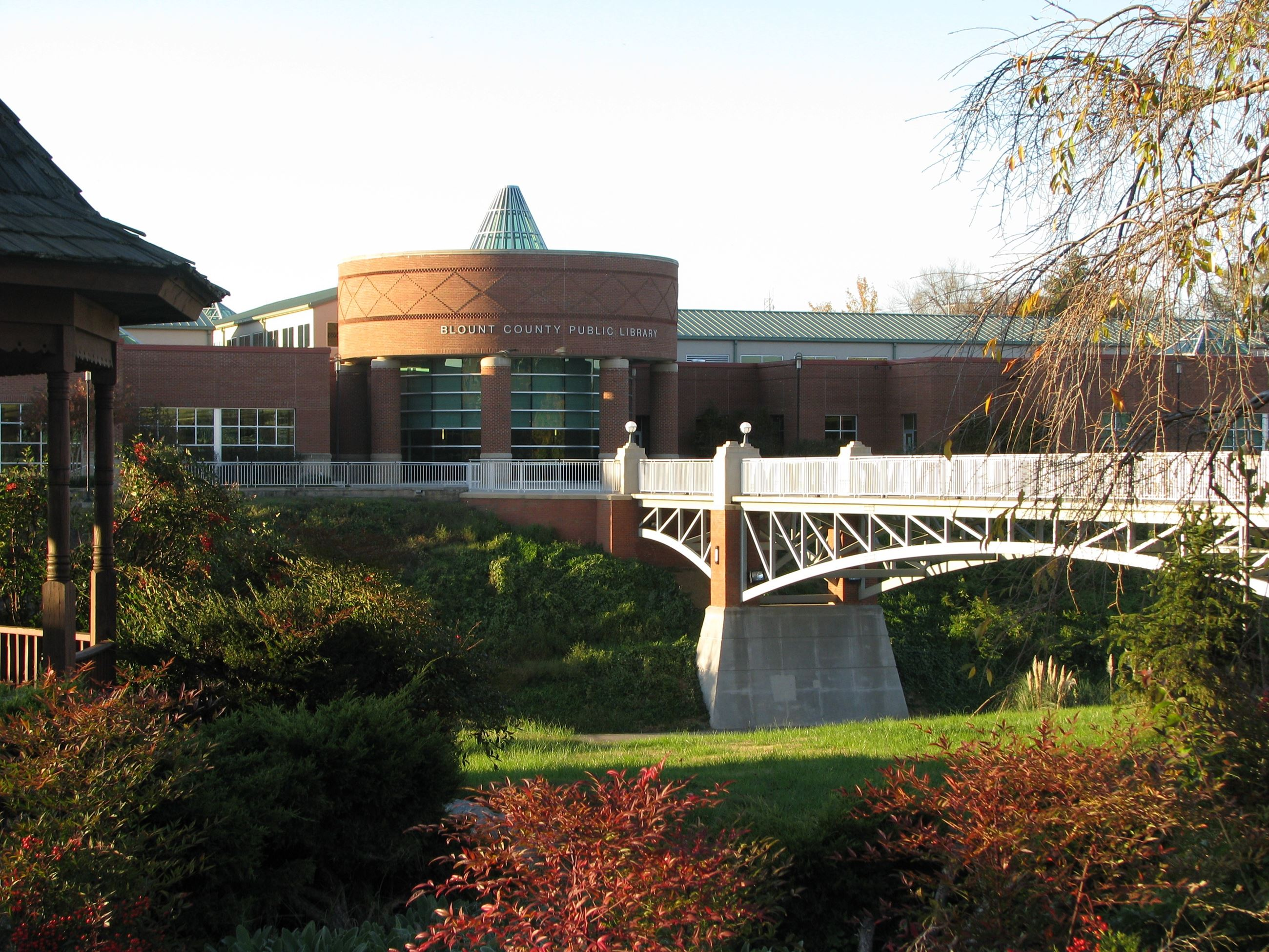 BCPL pedestrian bridge from Greenway