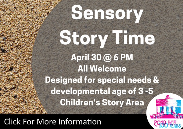 Sensory Story Time Apr 30 2019 (Feature)