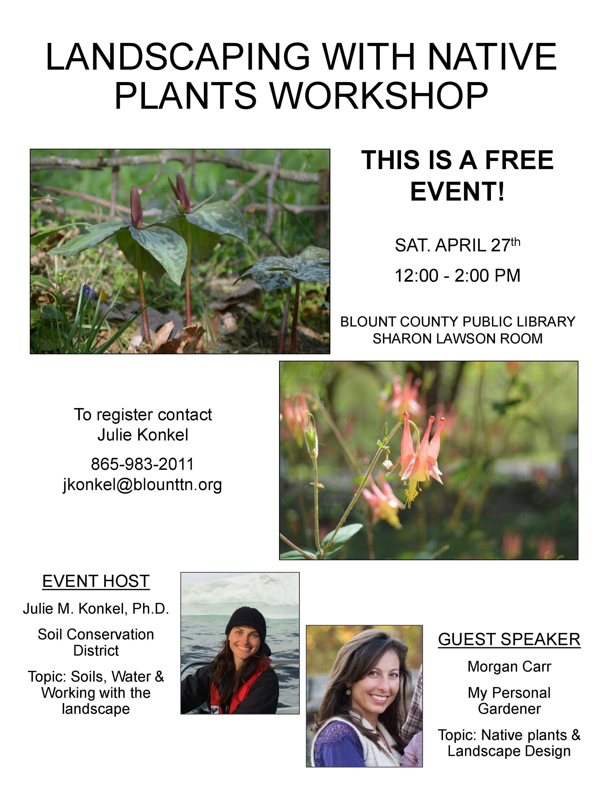 Landscaping with native plants_Workshop Flyer