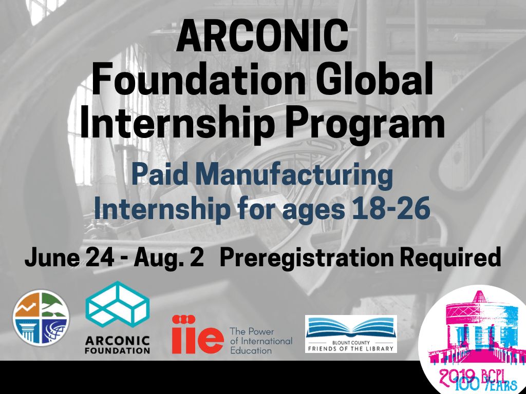 ARCONIC Internship June 24 to Aug 2 2019 (Signage)