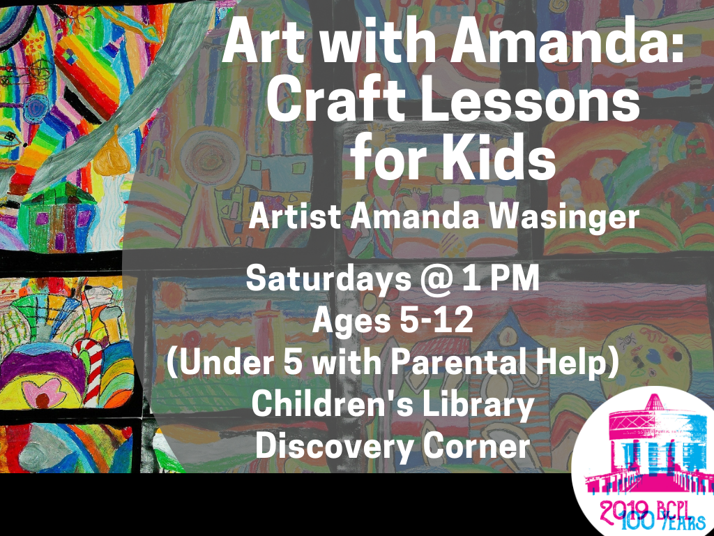 Art with Amanda Saturdays (Signage)