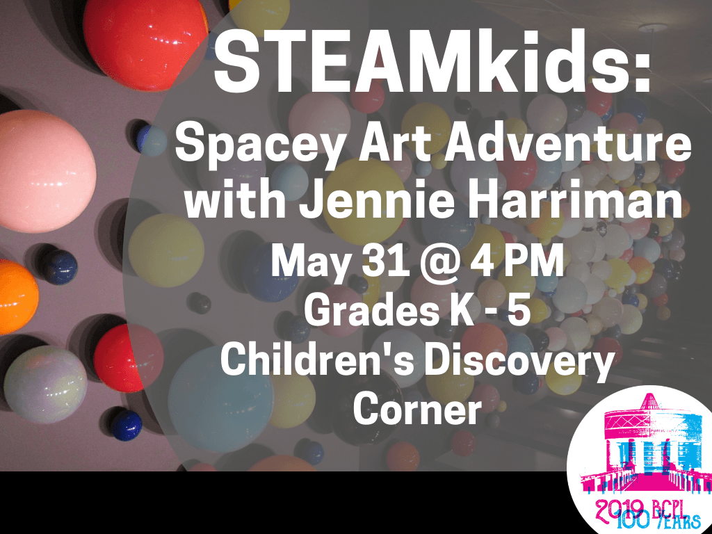 STEAMkids Spacey Art Adventure may 31 2019 (Signage)