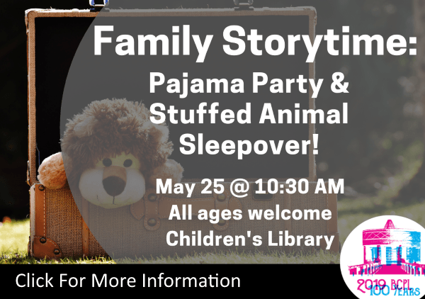 Family Storytime Pajama Party May 25 2019 (Feature)
