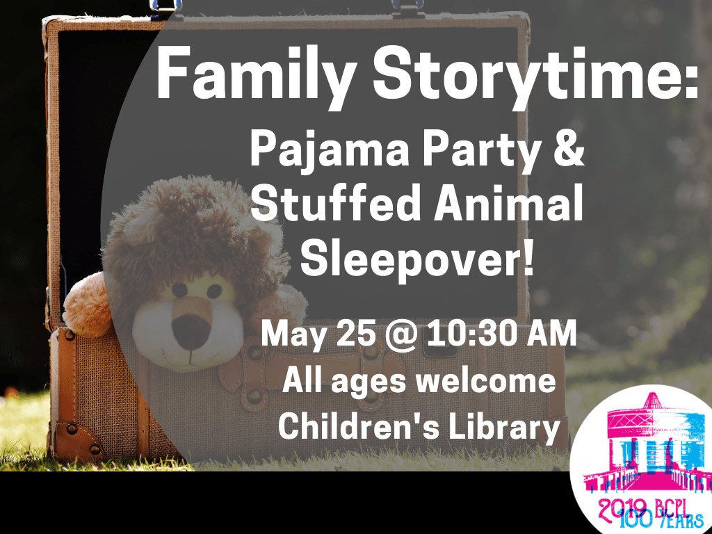 Family Storytime Pajama Party May 25 2019 (Signage)