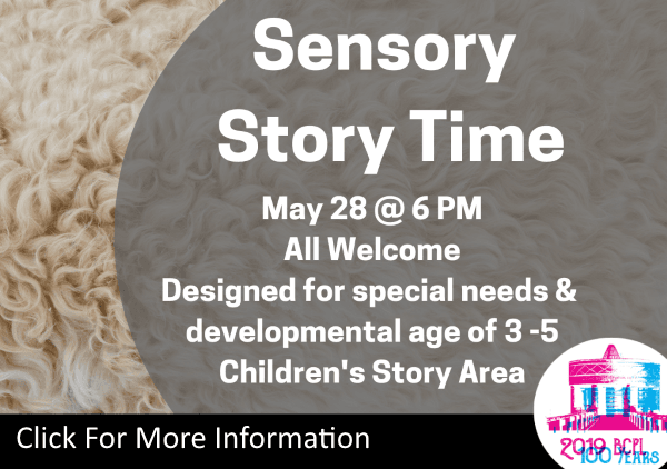 Sensory Story Time May 28 2019 (Feature)