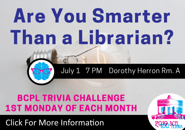 Are You Smarter Than a Librarian Trivia July 1 2019 (Feature)