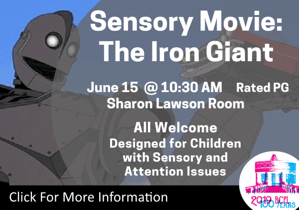 Sensory Movie The Iron Giant June 15 2019 (Feature)