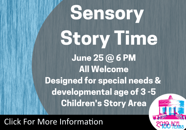 Sensory Story Time June 25 2019 (Feature)