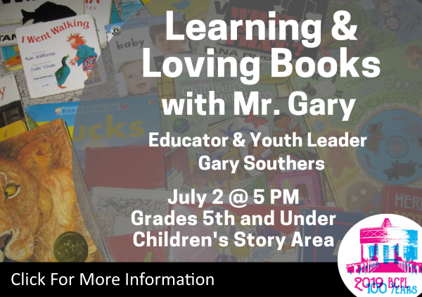 Learning and Loving Books Mr Gary July 2 2019 (Feature)