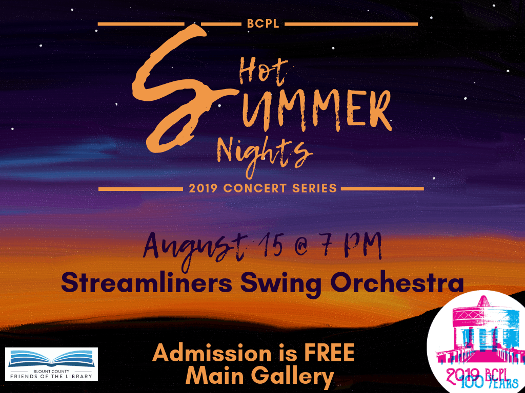The Streamliners Swing Orchestra August 15 2019 (Signage)
