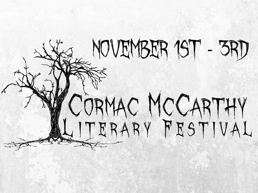 Cormac McCarthy Literary Festival with date shaded background