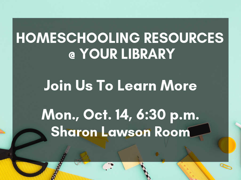 Homeschool Resources Oct 14 2019 (Signage)