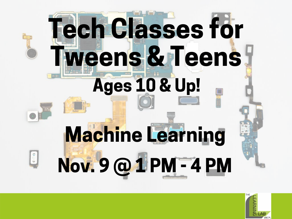 Tech Class Machine Learning Nov 9 2019 (Signage)