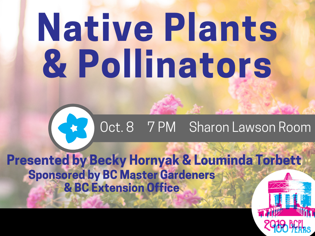 Native Plants and Pollnators Oct 8 2019 (Signage)