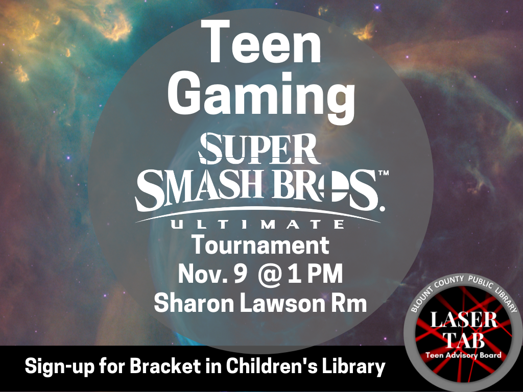 Teen Gaming Nov 9 2019 Sign Up Bracket (Signage)