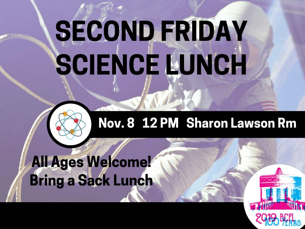 Second Friday ScienceLunch Nov 8 2019 (Signage)
