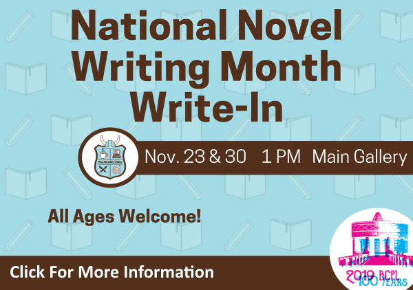 National Novel Writing Month Nov 23 30 2019 (Feature)