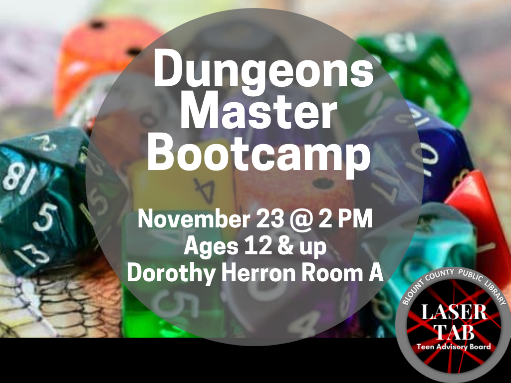 Dungeons Masters Bootcamp Nov 23 2019 (Signage)
