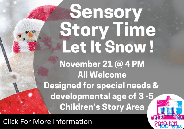 Sensory Story Time Nov 21 2019 (Feature)