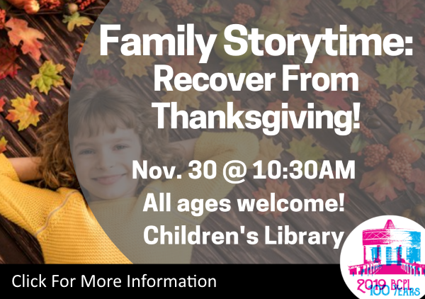 Family Storytime Nov 30 2019 (Feature)