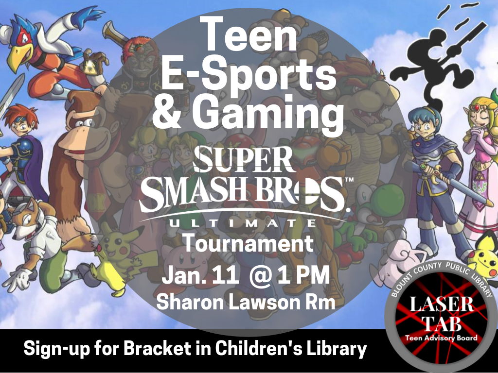 Teen Gaming Jan 11 2020 Sign Up Bracket (Signage)