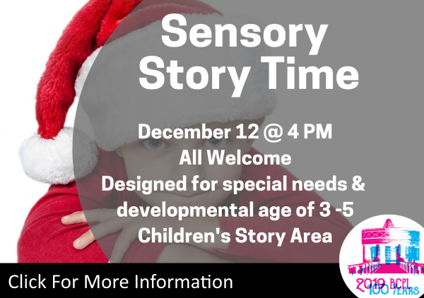 Sensory Story Time Dec 12 2019 (Feature)