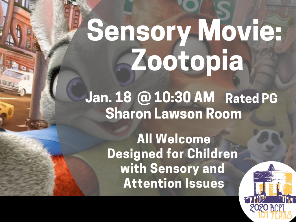 Sensory Movie Zootopia Jan 18 2020 (Signage)