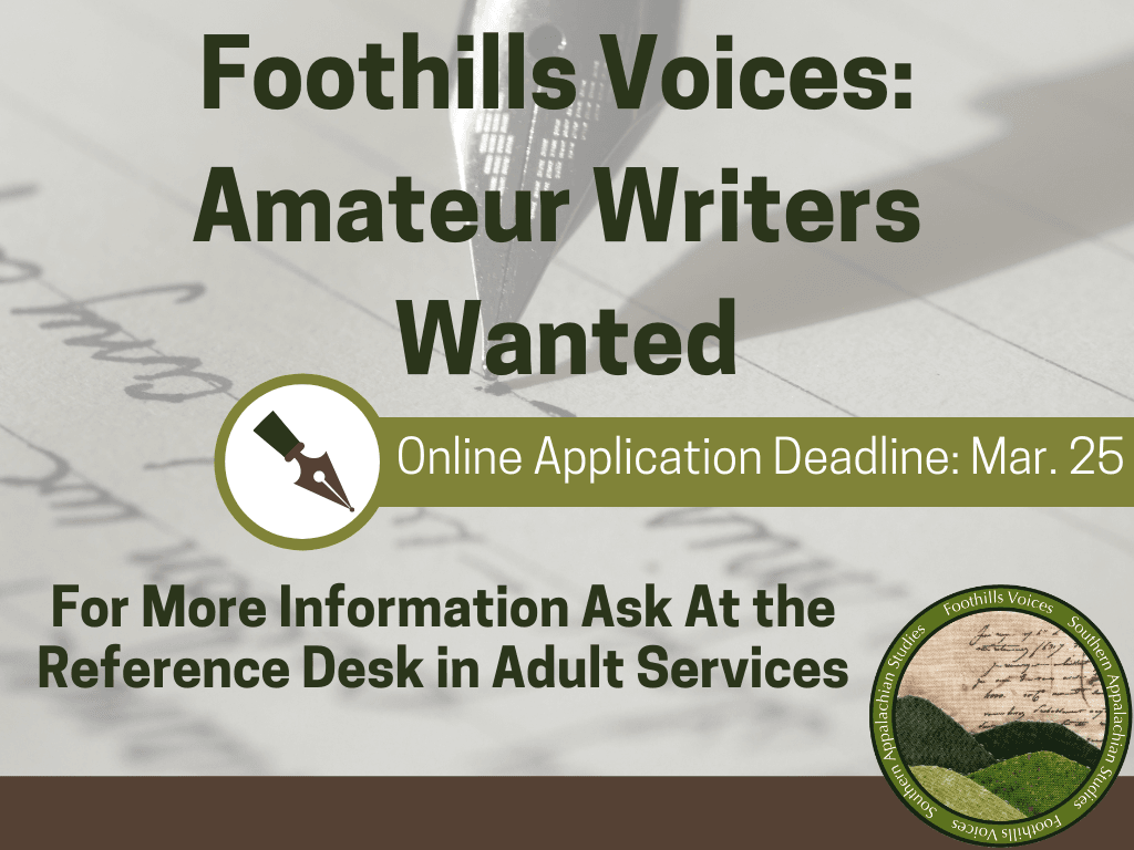 Amateur Writers Wanted Mar 1 25 2020 (Signage)