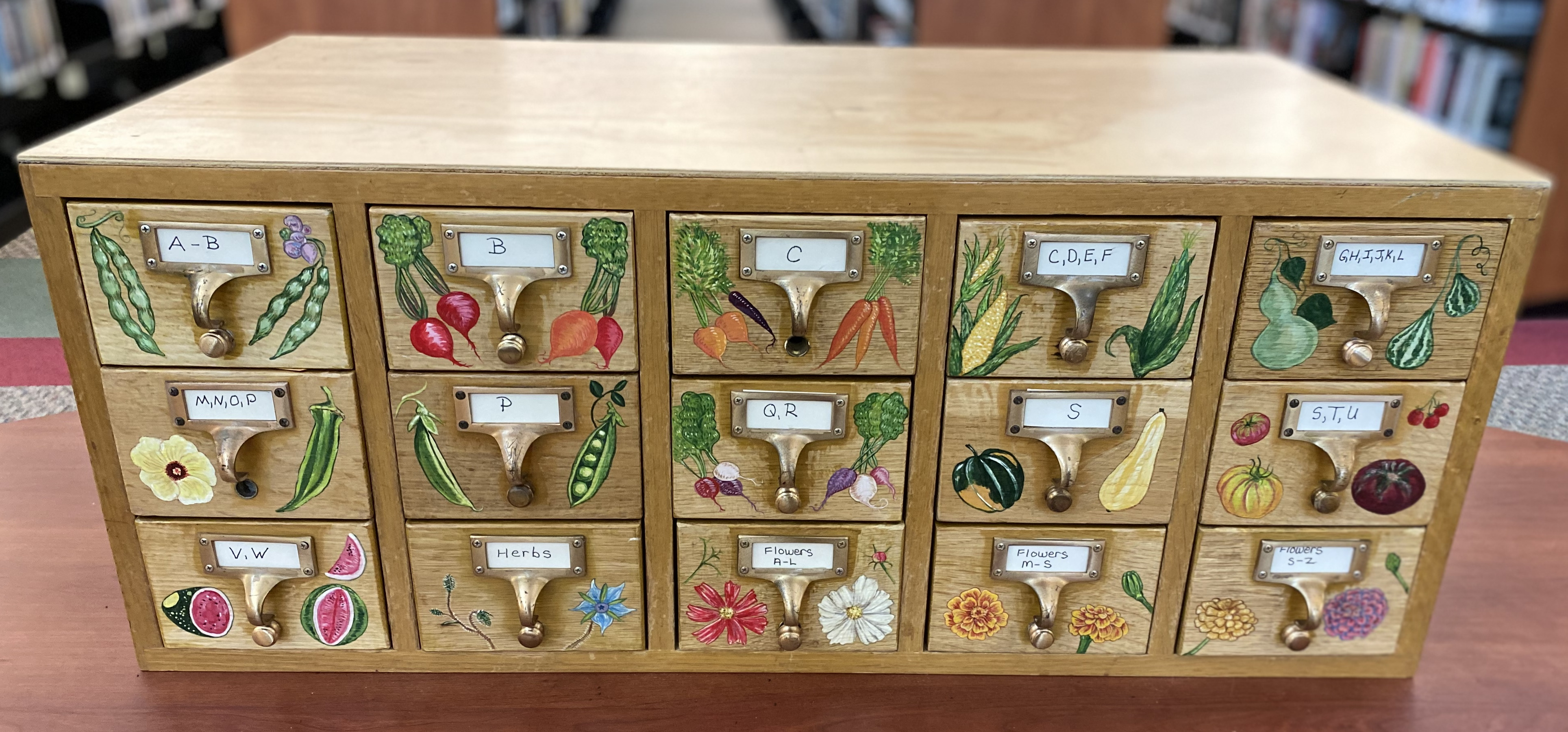 Seed Library Card Catalog painted cropped