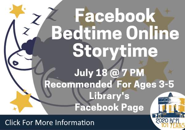 Bedtime Online Storytime July 18 2020 (Feature)