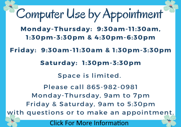 Computer Use by Appt update July 6 (Feature)