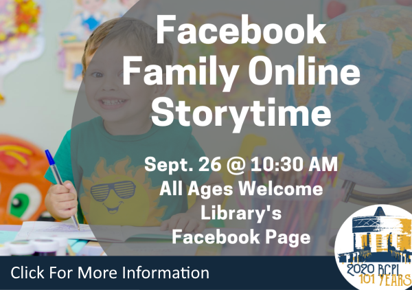 Facebook Family Storytime Sept 26 2020 (Feature)
