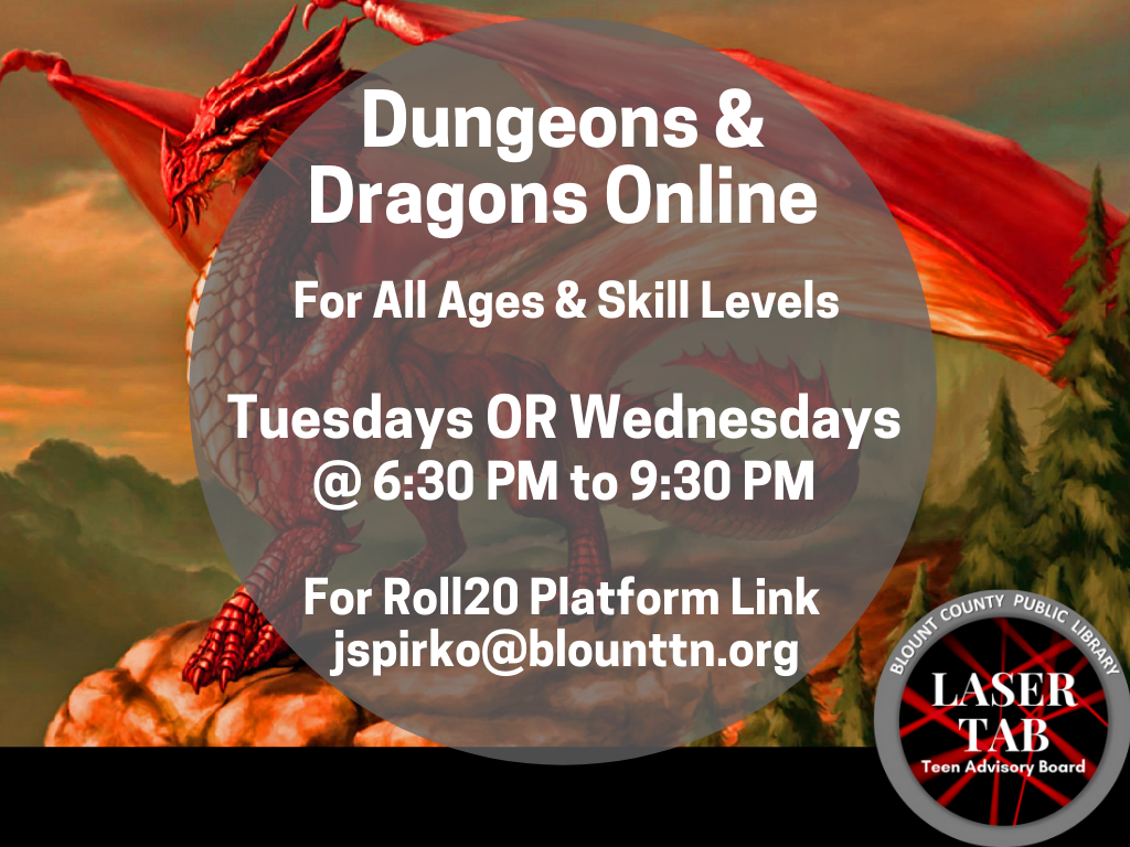 Dungeons Dragons Tues Wed 2020 (Signage)